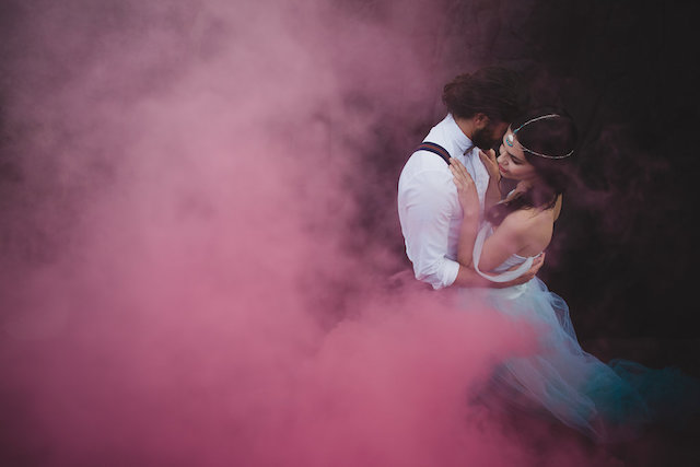 Pink smoke bomb | Just For Love Photography
