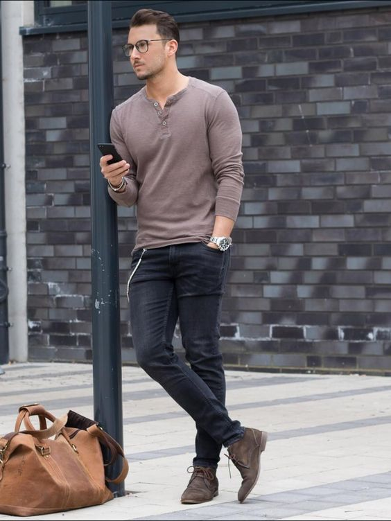 how to wear blue jeans for men (12)