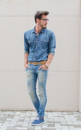 how to wear blue jeans for men (1)