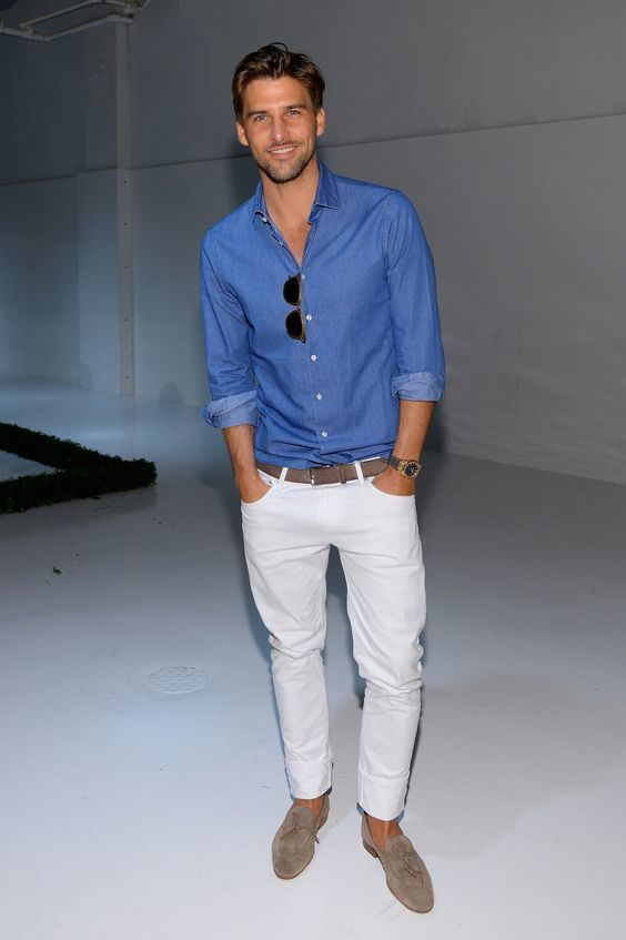 how to wear white jeans for men (5)