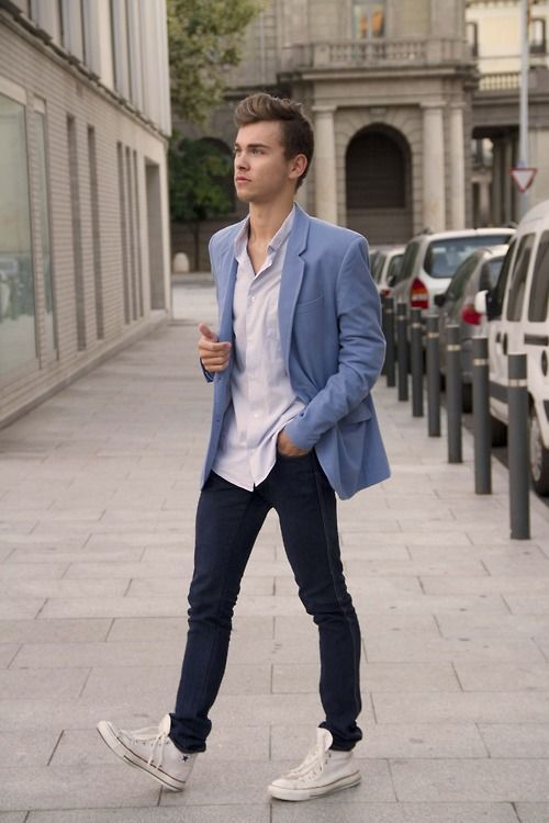 how to wear blue jeans for men (18)