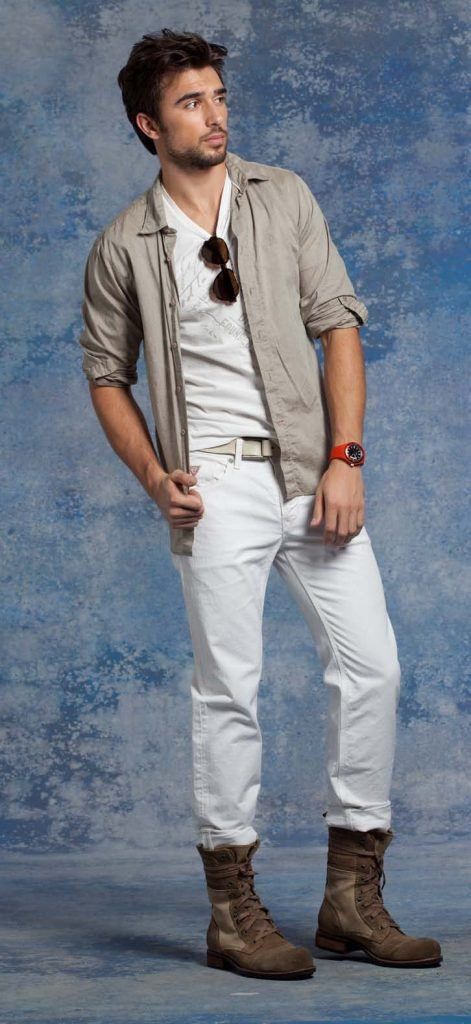 how to wear white jeans for men (8)