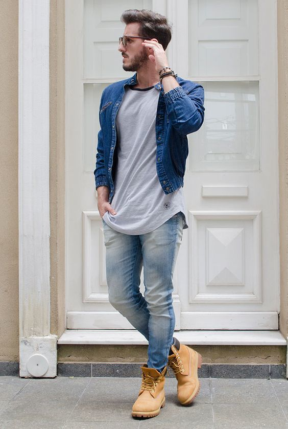 how to wear blue jeans for men (24)