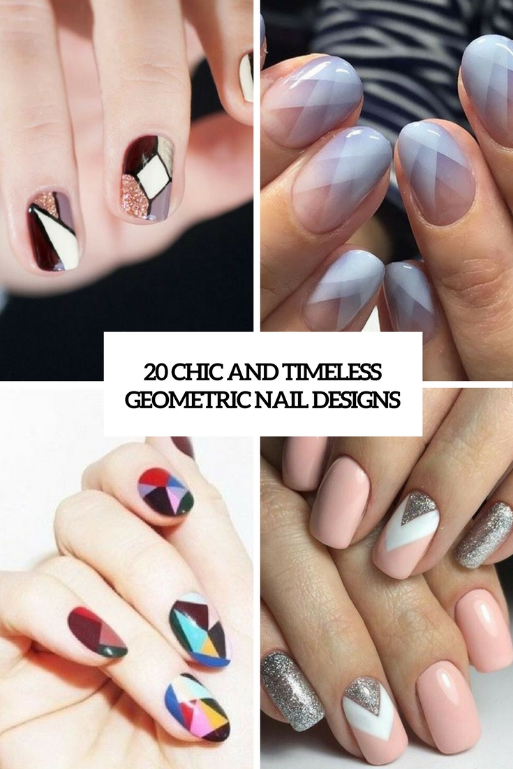 chic and timeless geometric nail designs cover