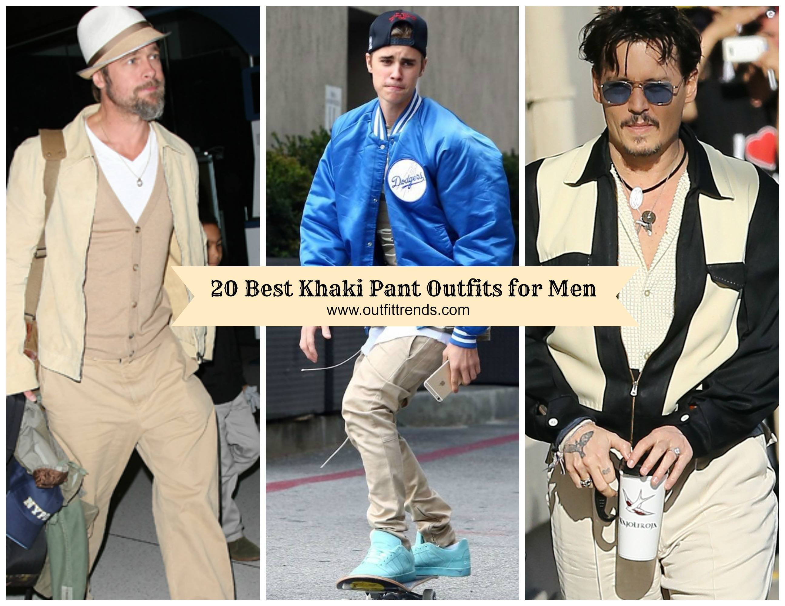 how to wear khaki pants for men