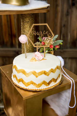 Geometric laser cut cake topper | Kristopher Lindsay Photography + Milk Glass Productions