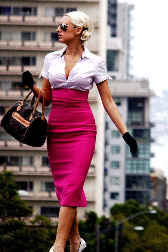 how to wear hot pink skirts (26)