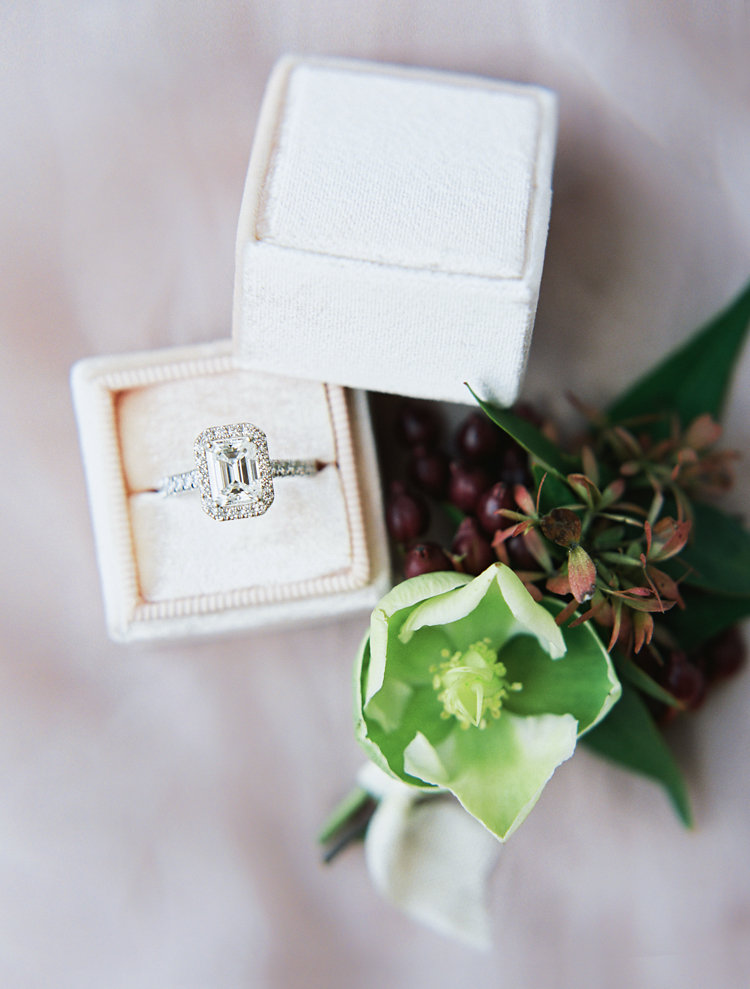 emerald cut engagement rings - photo by Bethany Erin Photography http://ruffledblog.com/modern-meets-rustic-wedding-in-dallas