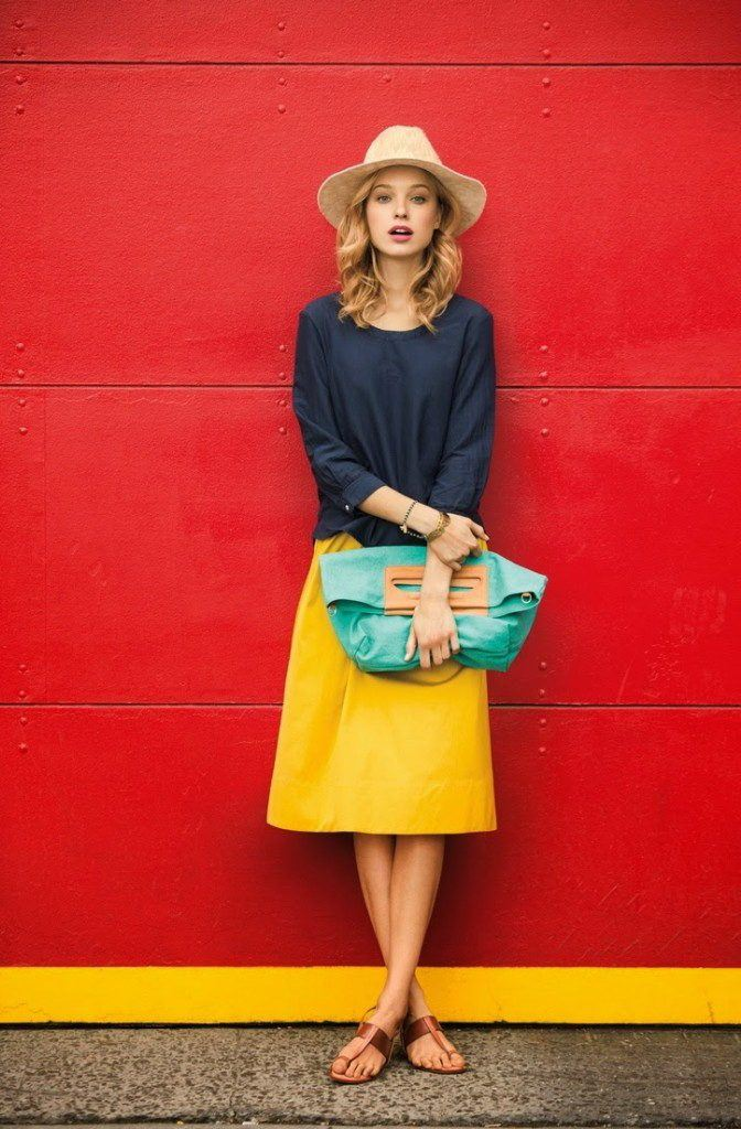 how to wear yellow skirt (3)