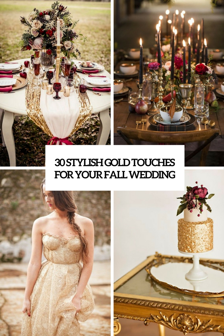 stylish gold touches for your fall wedding cover