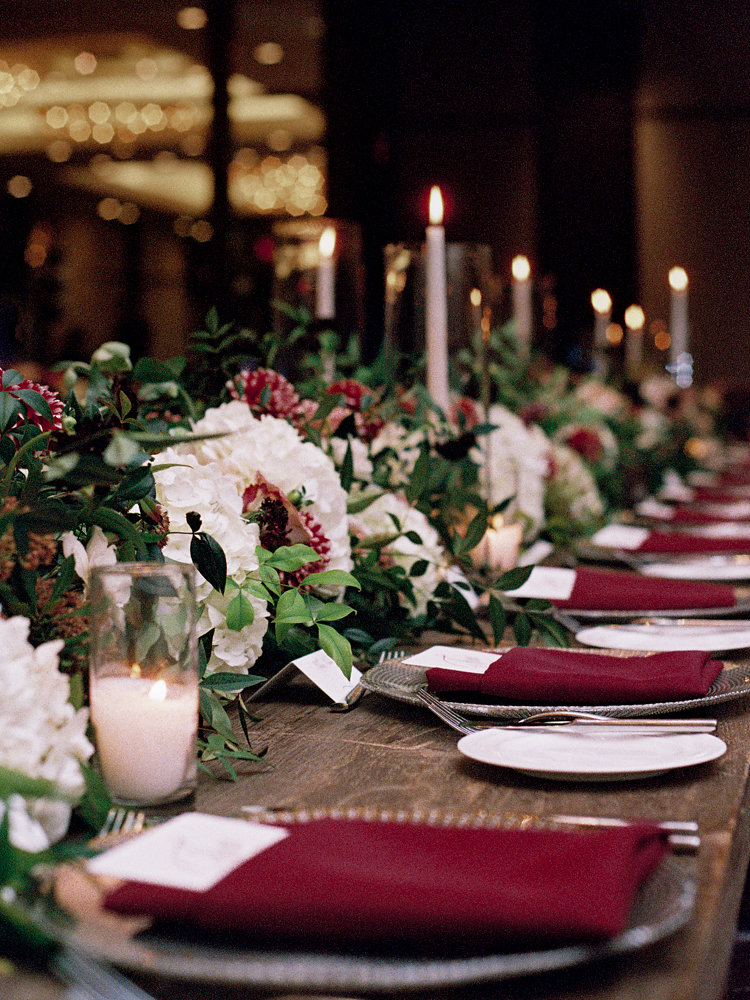 wedding tablescapes - photo by Bethany Erin Photography http://ruffledblog.com/modern-meets-rustic-wedding-in-dallas