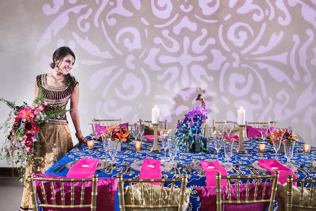 Indian wedding tablescape | Rachael Hall Photography