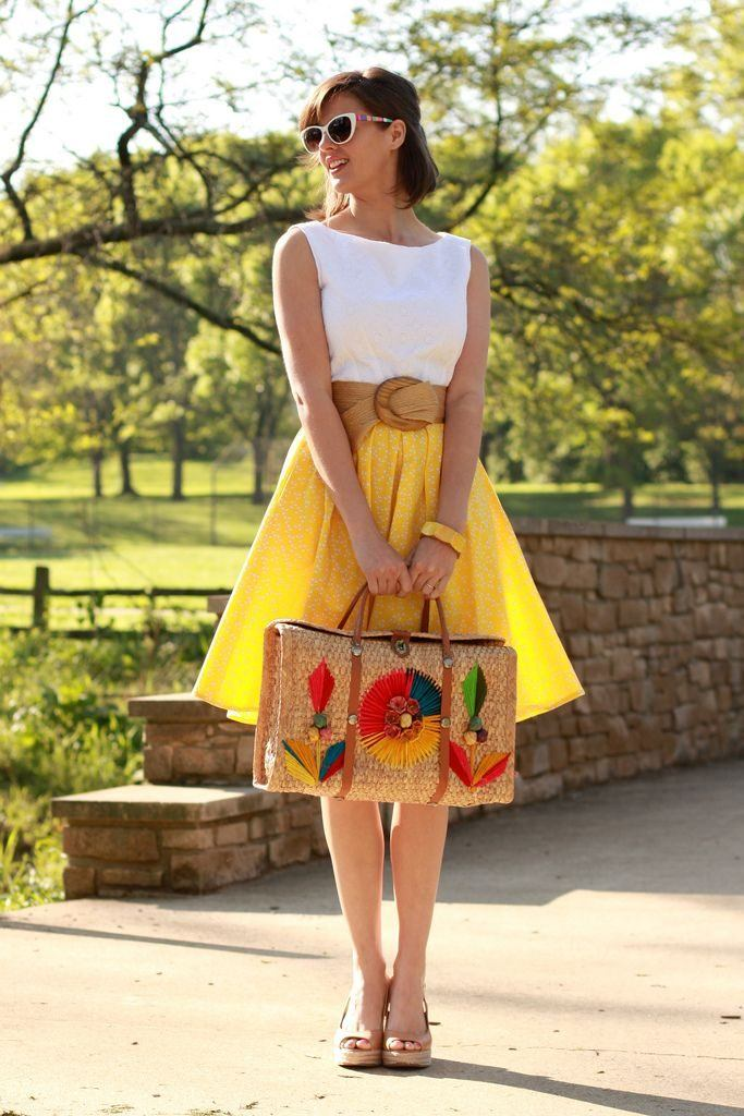 how to wear yellow skirt (7)