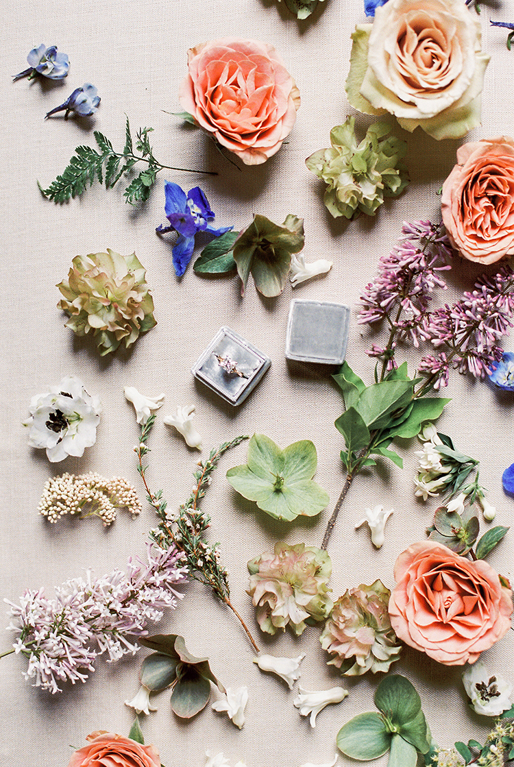 wedding ring boxes - photo by Chloe Luka Photography http://ruffledblog.com/vintage-bohemia-wedding-ideas-with-statement-floral-arrangements