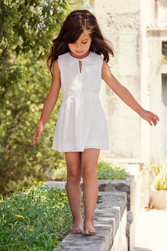 cute white dress with a collar looks preppy