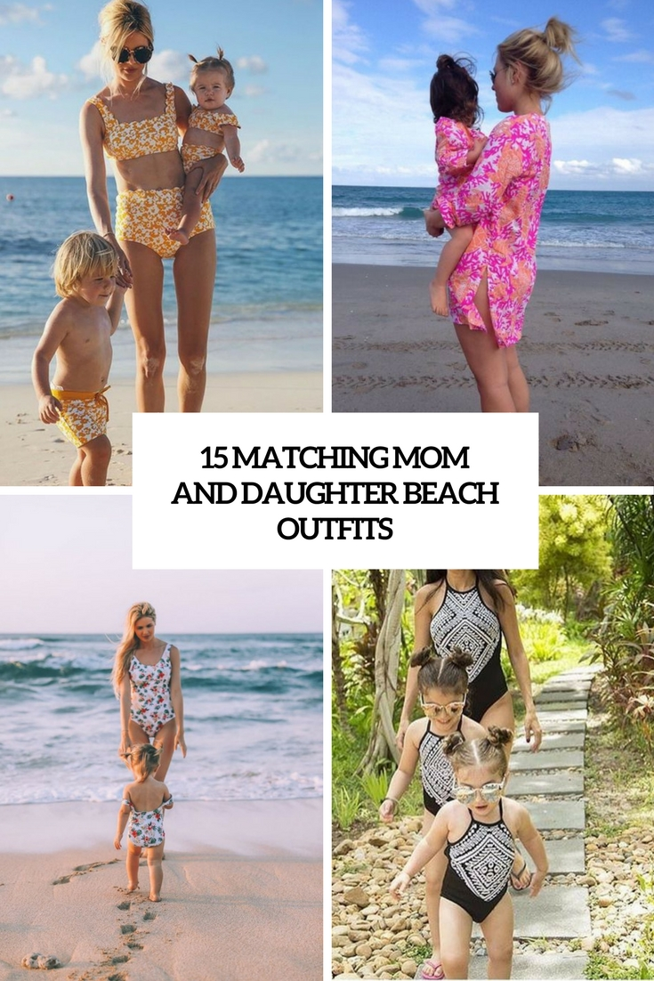 matching mom and daughter beach outfits cover
