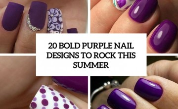 bold purple nail designs to rock this summer cover