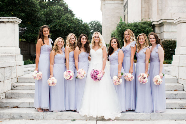 Long lavender bridesmaid dress - Style and Story Photography