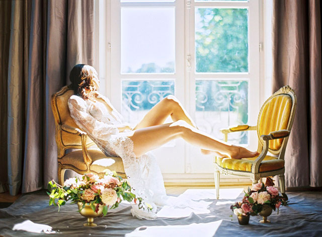 Bridal boudoir in a French chateau | Zosia Zacharia Photography