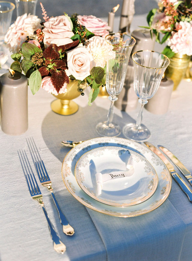 French chateau wedding place setting | Zosia Zacharia Photography