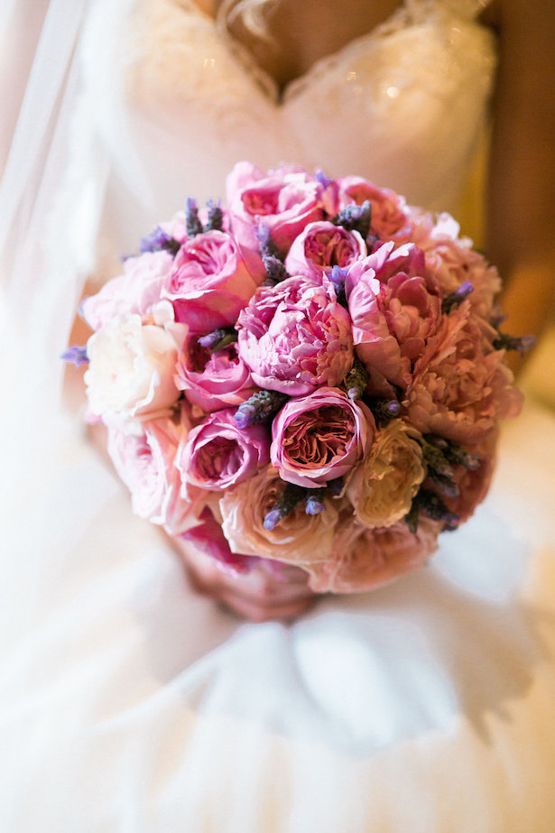 Pink peony wedding bouquet - Style and Story Photography