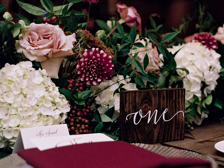 place setting ideas - photo by Bethany Erin Photography http://ruffledblog.com/modern-meets-rustic-wedding-in-dallas