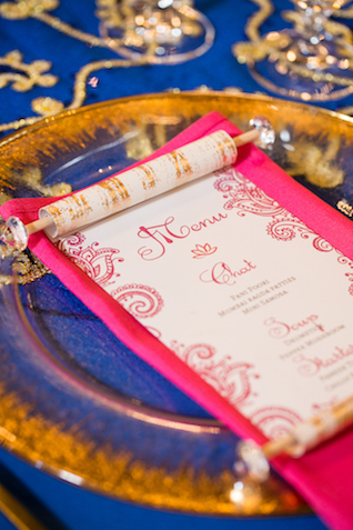 Scroll wedding menu | Rachael Hall Photography