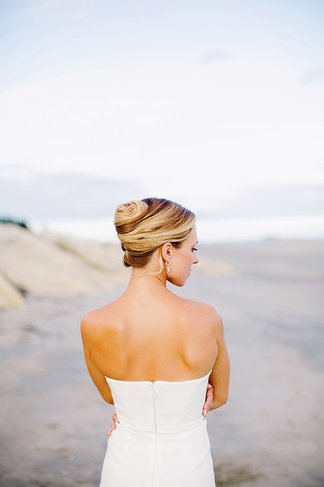 Chic updo for a beach wedding