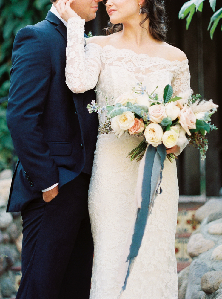 wedding portraits - photo by Dennis Roy Coronel http://ruffledblog.com/copper-blue-rancho-las-lomas-wedding-inspiration