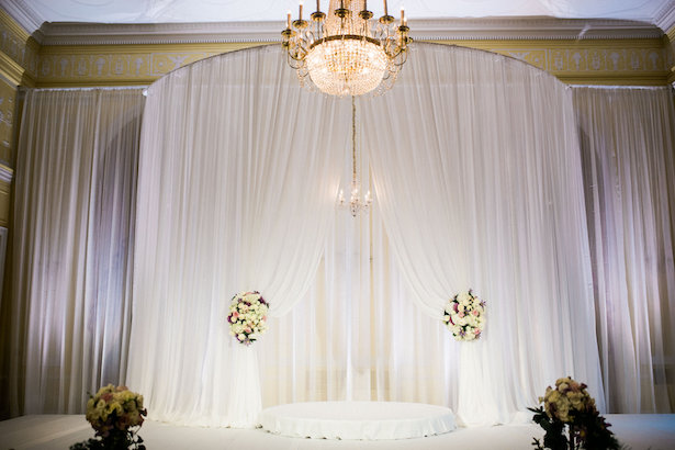 Draping wedding ceremony decor - Style and Story Photography