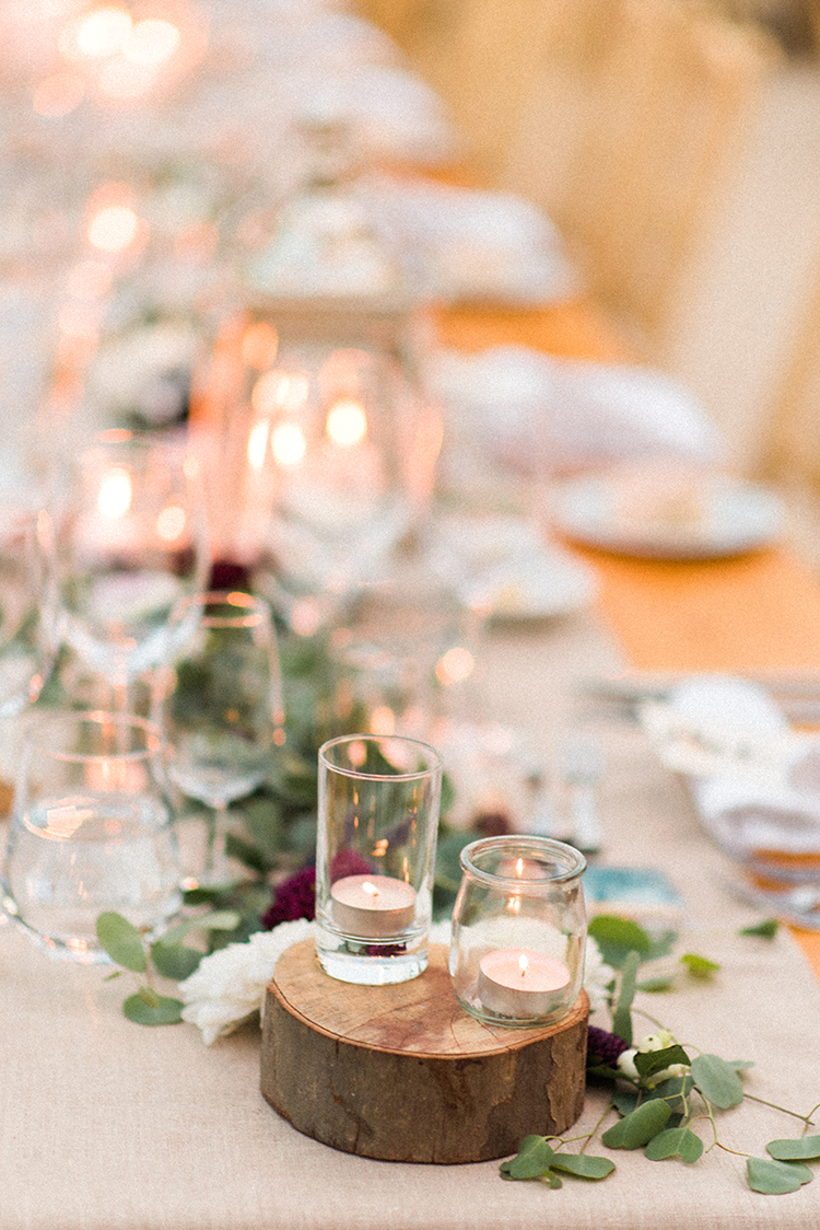 rustic wedding centerpieces - photo by Adriana Morais http://ruffledblog.com/two-day-destination-wedding-celebration-in-portugal
