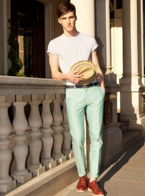 how to wear a mint pant (9)