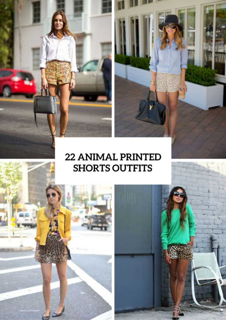 Animal Print Shorts Outfits To Repeat