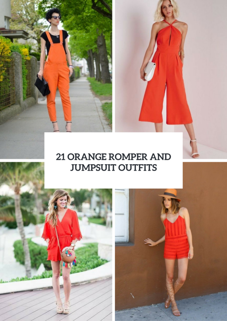 Orange Romper And Jumpsuit Outfit Ideas
