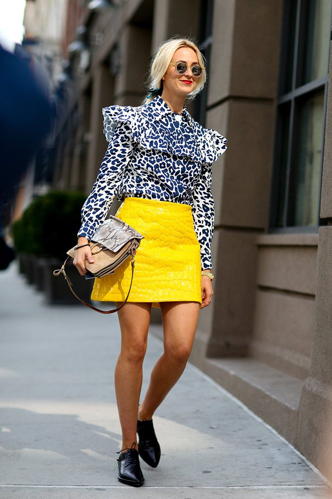 how to wear yellow skirt (8)