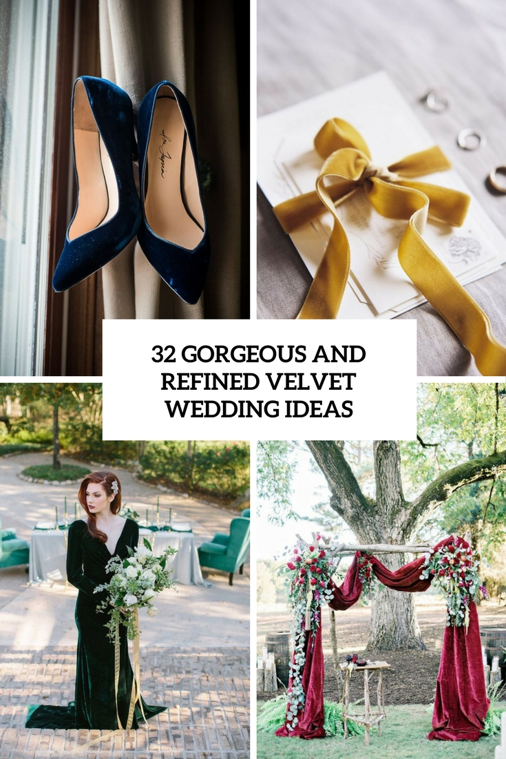 gorgeous and refined velvet wedding ideas cover