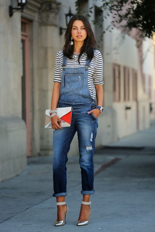 How to Wear Dungarees with Ankle Straps