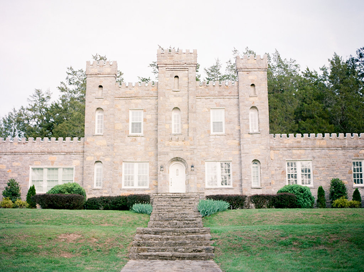 castle wedding venues - photo by Christy Wilson Photography http://ruffledblog.com/summer-castle-soiree-wedding-inspiration