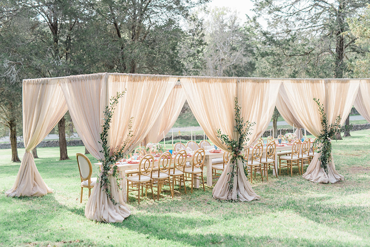 romantic wedding receptions - photo by Christy Wilson Photography http://ruffledblog.com/summer-castle-soiree-wedding-inspiration
