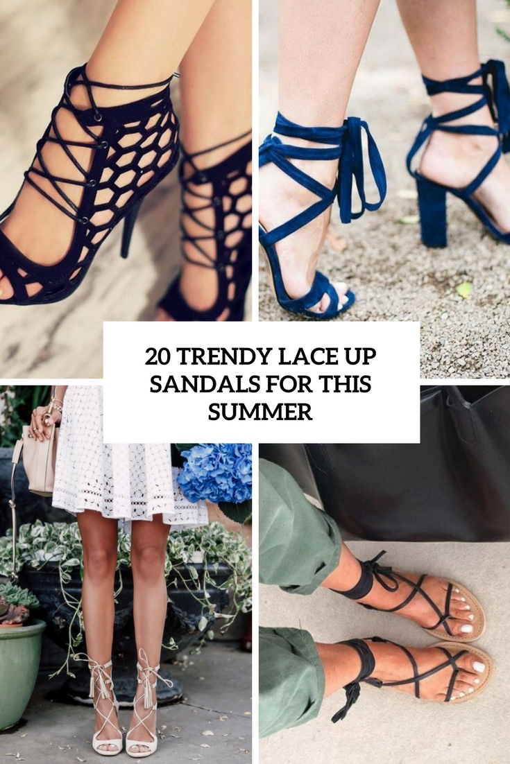 trendy lace up sandals for this summer cover