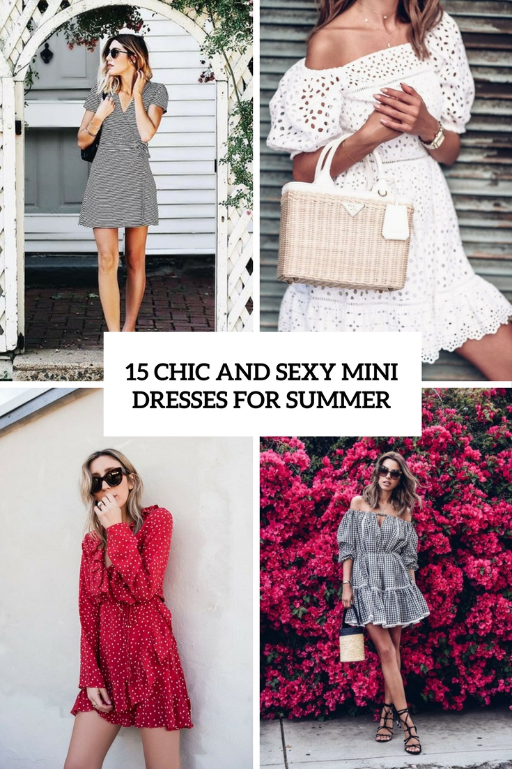 chic and sexy mini dresses for summer cover