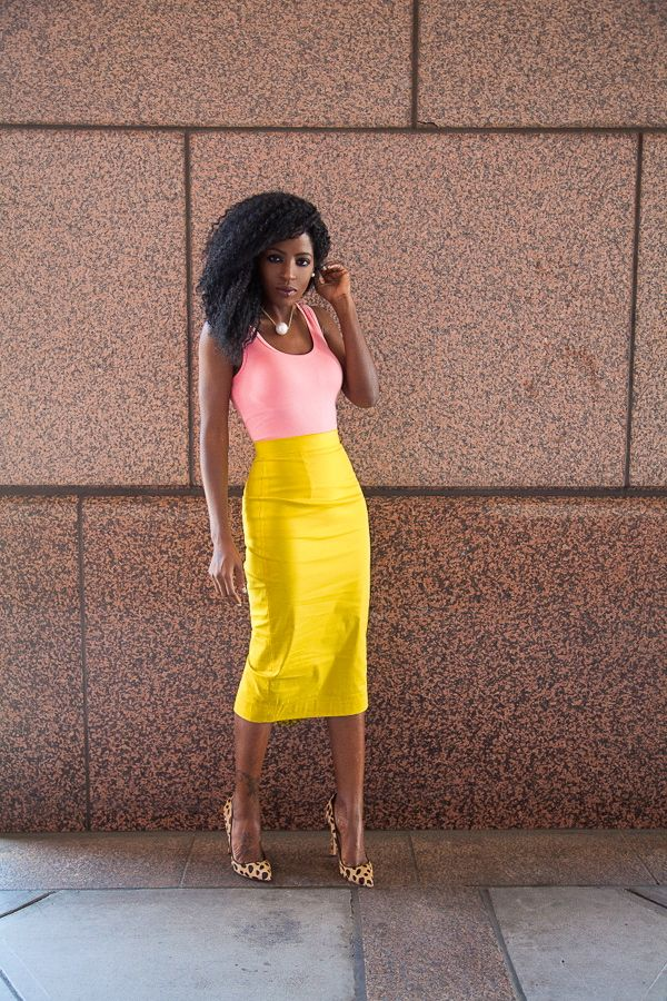 how to wear yellow skirt (22)