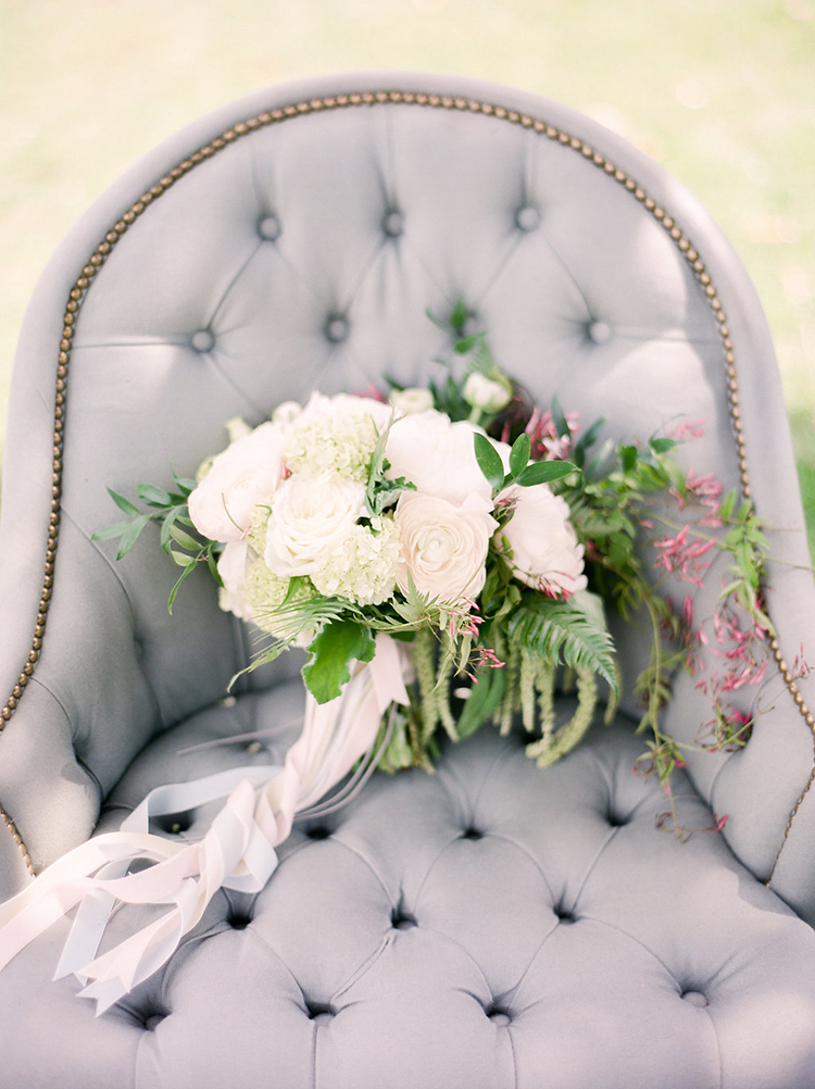 romantic floral bouquets - photo by Christy Wilson Photography http://ruffledblog.com/summer-castle-soiree-wedding-inspiration