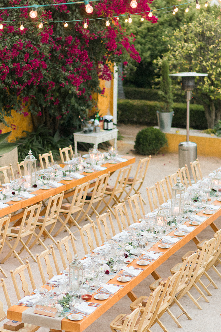 reception tables - photo by Adriana Morais http://ruffledblog.com/two-day-destination-wedding-celebration-in-portugal