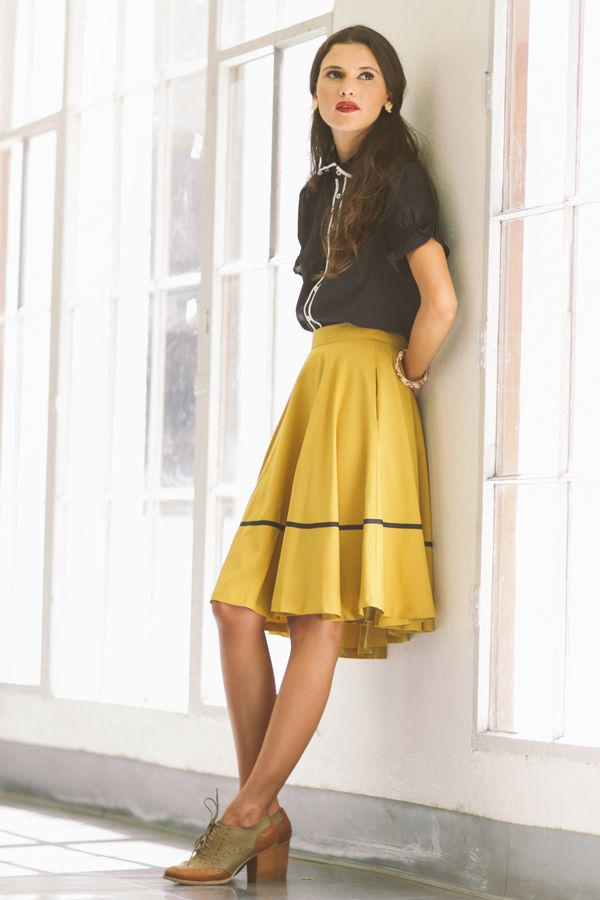 how to wear yellow skirt (5)