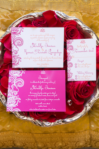 Indian wedding invitations | Rachael Hall Photography