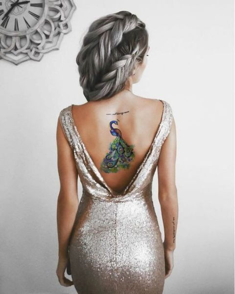 Chic tattoo on the back