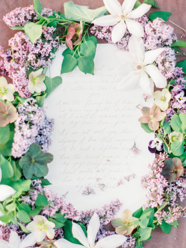 Lilac is a brilliant idea for a spring wedding, its period is short but it's fantastic