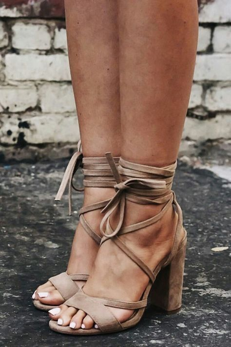 heeled tan lace up leather sandals