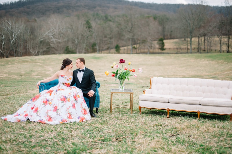 colorful wedding inspiration